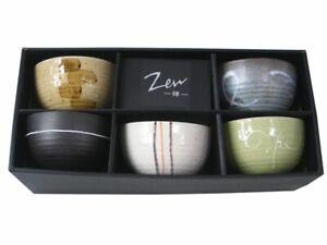 """5 Matcha Teeschalen - Set in 5 verschiedenen Designs - MADE IN JAPAN von """" Zen """""""