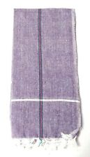 "20"" BIG Khadi Cotton Men Handkerchief Hanky Napkin Party Kitchen Wedding Purple"