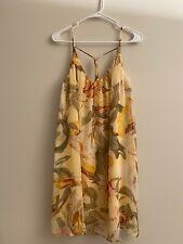 NEW! White House Black Market Women Yellow Cocktail Dress 14 NWT 110$
