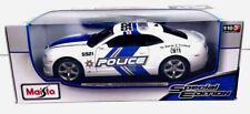 Maisto 2010 Chevrolet Camaro SS RS White Police Cruiser 1:18 Metal Die Cast NIB