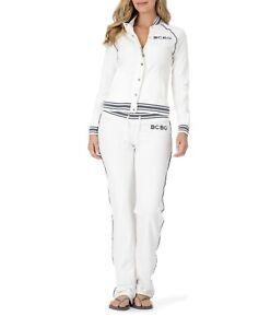 BCBG MAXAZRIA, Branded Logo/Sport Jacket & Pant Set BC13700J/P White