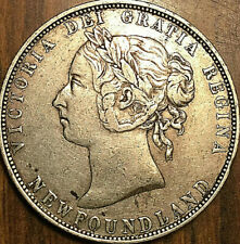 """1899 """"NARROW 99"""" NFLD NEWFOUNDLAND SILVER 50 FIFTY CENTS - Nicer example!"""