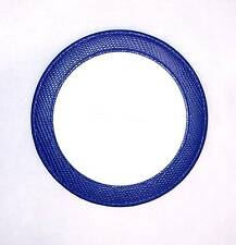 Blue Leather Magnetic Coaster or Ornament for Needlepoint Canvas by LEE