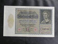 BILLETS ALLEMAGNE : REICHSBANKNOTE 10000 MARK du 19 JANUAR 1922 - EN BON ETAT