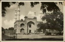 Agra India Tomb of Akbar Used Real Photo Postcard