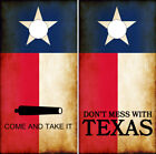 Cornhole Wraps Don't Mess With Texas Flag and Molon Labe Come and Take it Flag
