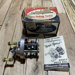 Vintage Shakespeare 1982 Sport Cast Free Spool Fishing Reel with Box