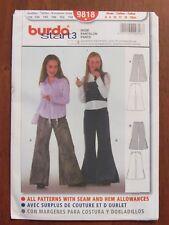 BURDA PATTERN - 9818 GIRL'S FITTED PANTS FLARED LEG SIZE 6 - 13jun START 3 UNCUT