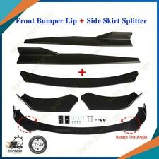 Universal Car Front Bumper Lip Spoiler Diffuser + Side Skirt Splitter Extension