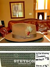"STETSON ""DOWNS"" ROYAL WALNUT 7 1/8 CLASSIC FEDORA!"