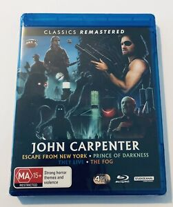 John Carpenter Classics Blu Ray 4-Discs NEW* Movie 🍿 MA15+ Region B / They Live