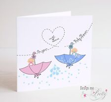 BABY SHOWER Card For TWINS - New Baby - Pregnancy Cute
