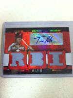 2006 Topps Triple Threads Travis Hafner Signed Game Used Jersey Card #D 01/18