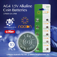 10 X AG4 1.5v LR626 G4 LR66 177 GP77A 377 18mAh Alkaline Button Coins Battery