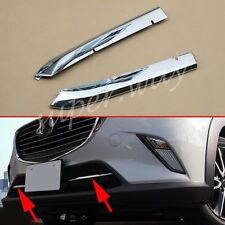 Front Grill Trim For Mazda CX3 2016 2017 Chrome Air-inlet Grille Accessories