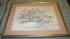Stephen Kaye, Testured Floral, Signed Matted & Framed LE 15/350, Painting 33x39""