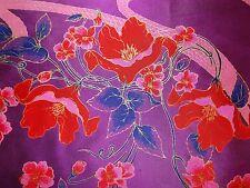 Immaculate Vintage 1980s Purple Thai Silk Women's 91cm Square Scarf