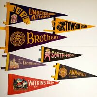 Lot 7 New York Watkins Glen Indian Village Empire Souvenir Felt Pennants
