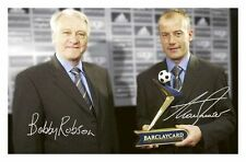 NEWCASTLE UNITED - BOBBY ROBSON & ALAN SHEARER SIGNED A4 PP POSTER PHOTO