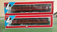 2x Lima BR Mk1 Composite Corridor Coaches - Maroon, M25623 & M25264, boxed