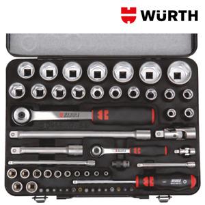Chiavi a Bussola 1/2 e 1/4 Professionali Set 56pz - WÜRTH 096517 56