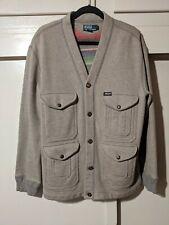 VTG Men's Polo Ralph Lauren Mountain Eqpt. Fleece Lined Cardigan Jacket Size L