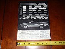 TRIUMPH TR8 - ORIGINAL AD