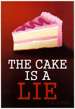 The Cake is a Lie Portal Video Game Poster Print Poster Print, 13x19
