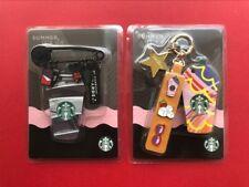 CS1834 China Starbucks coffee Frappuccino die-cut MSR cards Black/Pink 2pcs set
