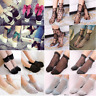 Fashion Women Fishnet Mesh Lace Ruffle Socks Sheer Silky Short Ankle Stocks