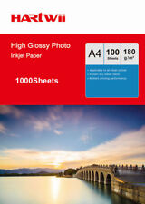 Hartwii 1000 Sheets A4 180 Gsm High Glossy Photo Paper For Inkjet Paper Printing