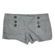 EXPRESS Gray Linen Cotton Shorts with Pockets Womens Size 2
