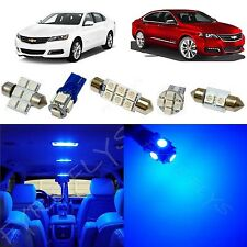 6x Blue LED lights interior package kit for 2014-2015 Chevrolet Impala CI1B