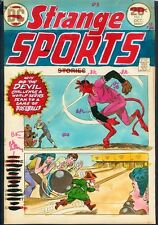 Strange Sports 1 COVER PAINTED ART Satan Baseball Elf Bowling HAND COLORED 1973