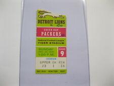 Dec 20, 1970 Detroit Lions vs Green Bay Packers Ticket Stub