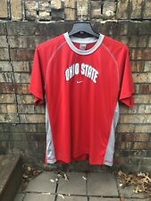 NIKE Factory Silver Tag Vintage Ohio State BUCKEYES Red Mens XL 90s T SHIRT EUC