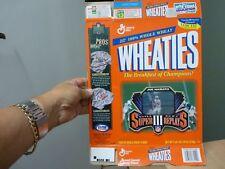 Wheaties-Super Bowl Super III relectures-Joe Namath Motion carte