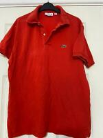 Lacoste Red Orange T-Shirt Size Large  Mens Short Sleeve (L153)