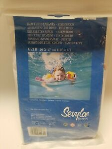 Vintage Sevylor Inflatable Arm Rings Swim Wings Arm Band Bears 1990s