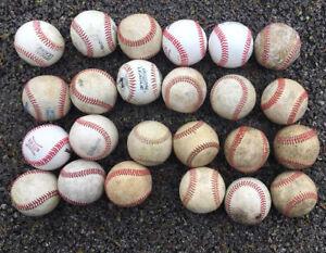 Lot Of 24 Used Baseballs