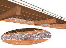 Schwalbenabwehr, Vogelabwehr für Vordach, 10 Stück (5 m) komplett aus Edelstahl