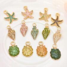 13 Pcs/set Conch Sea Shell Pendant Charms Jewelry DIY Handmade Accessories