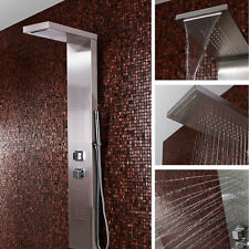 Moden Complete Shower Panel Polished Chrome With Waterfall Massage Wall hanging
