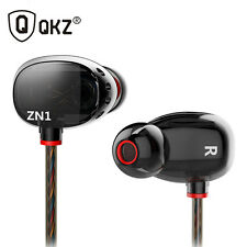 QKZ ZN1 Dual Driver Earphones and Headset Extra Bass Turbo Wide Sound Field