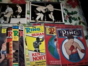 Vintage The Ring and Boxing Magazine Collection - Muhammed Ali, Joe Louis