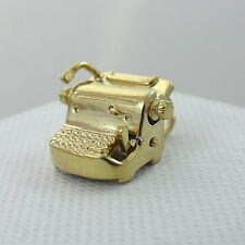 14K Gold 3D Articulated Typewriter Charm Pendant 4.8gr