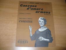 SPARTITO MUSICALE CANZONE D'AMORE ARMENA ARMEN'S THEME DEVILLI BAGDASARIAN LUNA