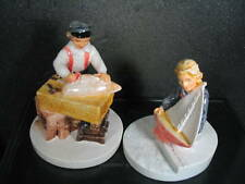 Sebastian Miniatures Sailing Days Boy And Girl 2Pc Mib