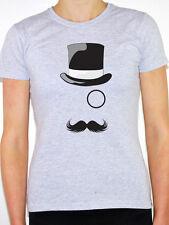 OLD ENGLISH GENTLEMAN - Top Hat / Mustache / Monocle Themed Women's T-Shirt