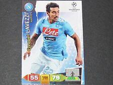 LAVEZZI NAPLES NAPOLI UEFA PANINI CARD FOOTBALL CHAMPIONS LEAGUE 2011 2012